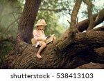 a pretty little blonde girl in... | Shutterstock . vector #538413103