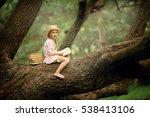 a pretty little blonde girl in... | Shutterstock . vector #538413106