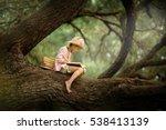 a pretty little blonde girl in... | Shutterstock . vector #538413139