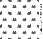 seamless pattern with hand...   Shutterstock .eps vector #538414504