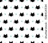 seamless pattern with hand... | Shutterstock .eps vector #538414534