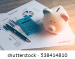 piggy bank with business stuff  ... | Shutterstock . vector #538414810