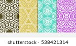set of seamless floral... | Shutterstock .eps vector #538421314