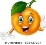 cartoon orange giving thumbs up | Shutterstock .eps vector #538427374