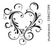 decorative heart for valentine... | Shutterstock .eps vector #538427398