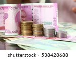 Stock photo rupee indian currency note folded as steps indian paper currency two thousand one hundred rupee 538428688