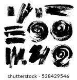 black grungy vector abstract... | Shutterstock .eps vector #538429546