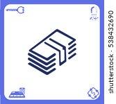 icon of money on white... | Shutterstock .eps vector #538432690