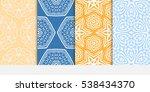 set of decorative geometric... | Shutterstock .eps vector #538434370