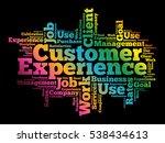 customer experience word cloud  ... | Shutterstock .eps vector #538434613