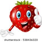 cartoon strawberry giving... | Shutterstock .eps vector #538436320