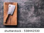 Vintage Butcher Meat On Dark...