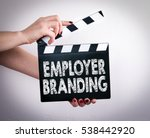 employer branding. female hands ... | Shutterstock . vector #538442920
