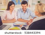 beautiful female travel agent...   Shutterstock . vector #538443394