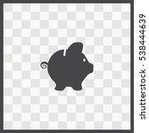 piggy bank vector icon....   Shutterstock .eps vector #538444639