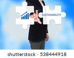 business man hand pressing a...   Shutterstock . vector #538444918