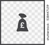 money bag vector icon. isolated ...