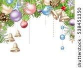 vector christmas background... | Shutterstock .eps vector #538451350