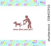 clean after pet vector icon on...