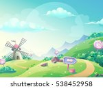 vector cartoon illustration of... | Shutterstock .eps vector #538452958