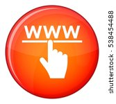 Hand Cursor And Website Icon I...