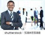 peaceful african american... | Shutterstock . vector #538455088