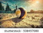 Beach Volleyball. Game Ball...