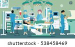 doctors and nurses were... | Shutterstock .eps vector #538458469