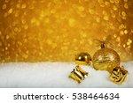 golden christmas decor in the... | Shutterstock . vector #538464634