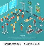 city fitness workout gym center ... | Shutterstock . vector #538466116