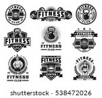 set bodybuilding badges ... | Shutterstock .eps vector #538472026