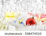 closeup christmas balls with... | Shutterstock . vector #538474510