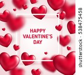 valentine's day concept. vector ... | Shutterstock .eps vector #538475458