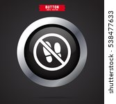 no shoes sign warning | Shutterstock .eps vector #538477633