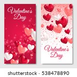 valentines day vertical banners....   Shutterstock .eps vector #538478890