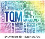 tqm   total quality management... | Shutterstock .eps vector #538480708