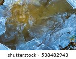 ice on water texture  cracked... | Shutterstock . vector #538482943