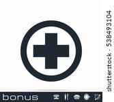 medical cross icon | Shutterstock . vector #538493104