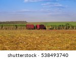 sugar cane   harvesting machine ...   Shutterstock . vector #538493740