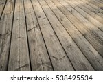 close up of composite decking.... | Shutterstock . vector #538495534