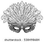 venetian carnival mask with... | Shutterstock .eps vector #538498684