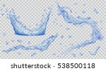 set of transparent water... | Shutterstock .eps vector #538500118