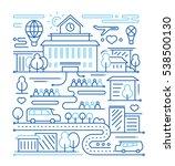city life   vector modern... | Shutterstock .eps vector #538500130