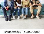 diversity teens hipster friend... | Shutterstock . vector #538502080