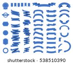 ribbon vector icon set on white ... | Shutterstock .eps vector #538510390