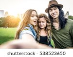 multi ethnic group of friends... | Shutterstock . vector #538523650