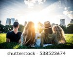 multi ethnic group of friends... | Shutterstock . vector #538523674