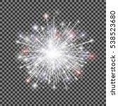 isolated vector fireworks on... | Shutterstock .eps vector #538523680
