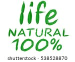 hundred percent natural for... | Shutterstock . vector #538528870