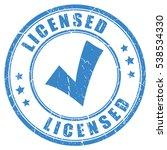 tick licensed rubber stamp... | Shutterstock .eps vector #538534330